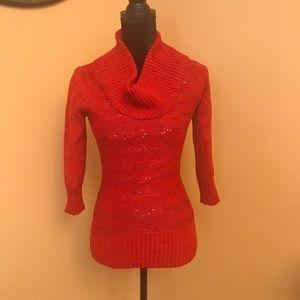 BCX cowl neck sweater size S